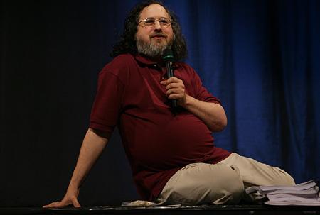 Richard Stallman Budapesten. Fotó: Huszti István
