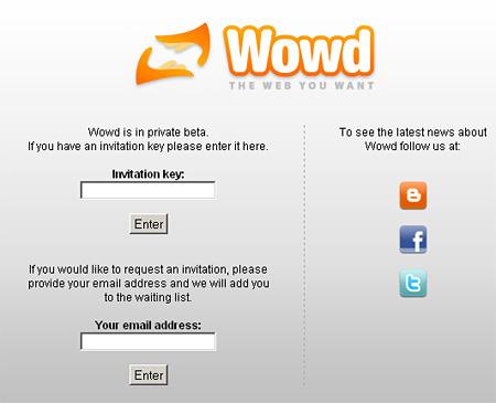 Wowd.com, egyelőre zárt bétában
