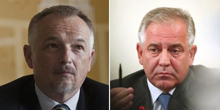 Hernádi Zsolt és Ivo Sanader (fotó: MTI/AFP)