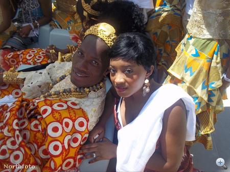 Didier Drogba és menyasszonya, Lalla Diakite