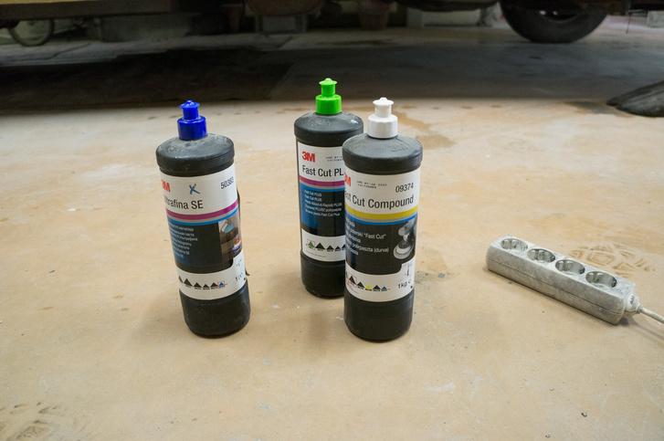 Sérülés nagyságától függően más és más polírpasztát kell használni