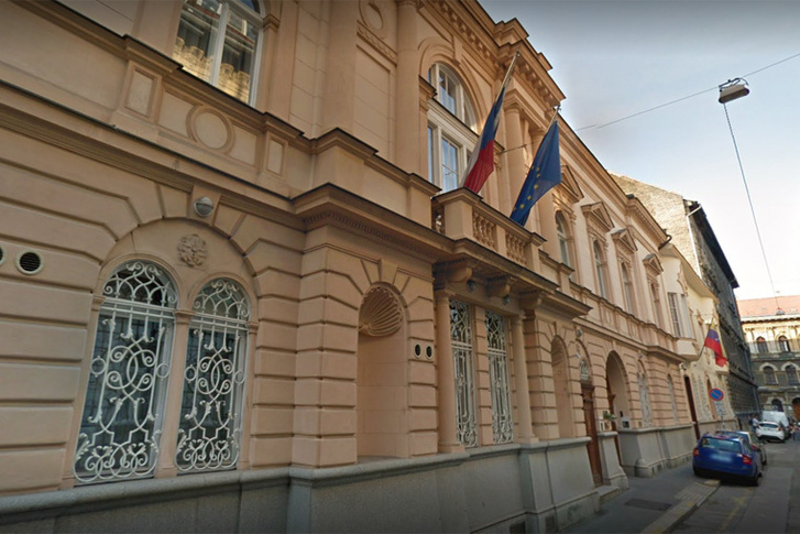 A cseh nagykövetség épülete Budapesten