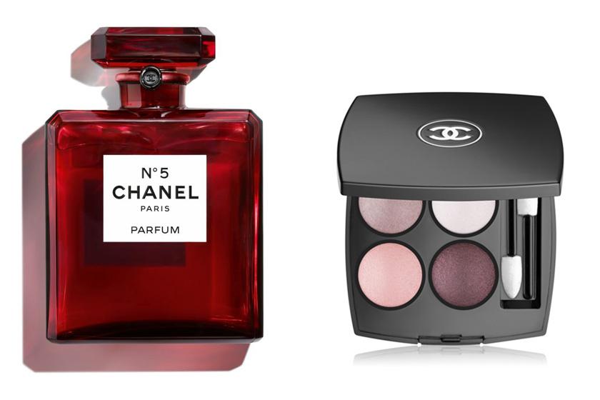 A Chanel karácsony alkalmából csodás pirosba öltöztette ikonikus No. 5 parfümjét, amiről Marilyn Monroe egyszer azt nyilatkozta, hogy csak ebből visel pár cseppet éjszakánként. Limitált számban kapható. A Les4 Ombres szemhéjfesték pedig nélkülözhetetlen az ünnepi sminkhez. (Körülbelül 50 000 Ft, 18 540 Ft.)