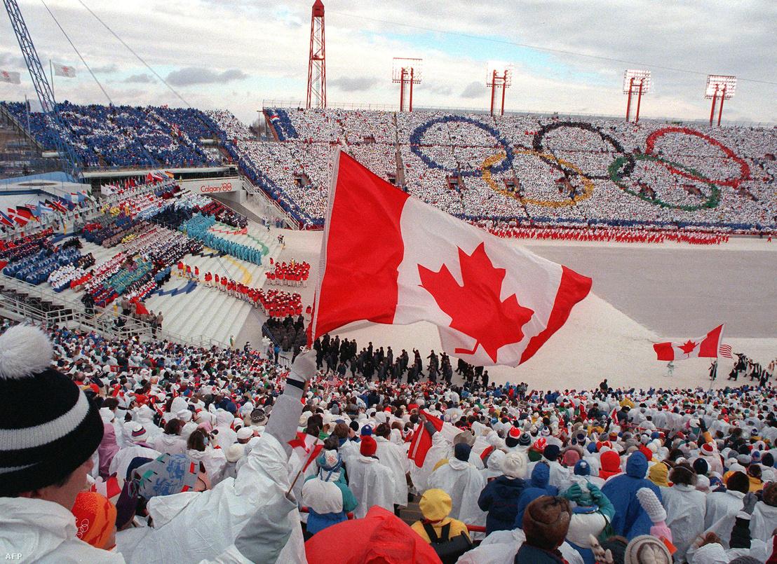 A Calgary-ban rendezett téli olimpia megnyítója 1988-ban