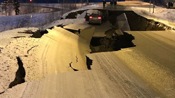 Erős földrengés rázta meg Alaszka déli részét