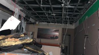 A tűz után újra látható az ATV