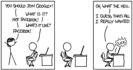 Mire jó a Google+? Forrás: xkcd.com