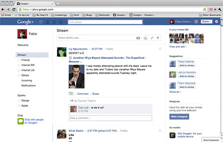 Facebookos skin a Google+-hoz