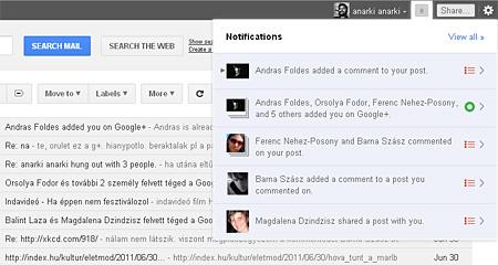 Így épül be a + a Gmailbe