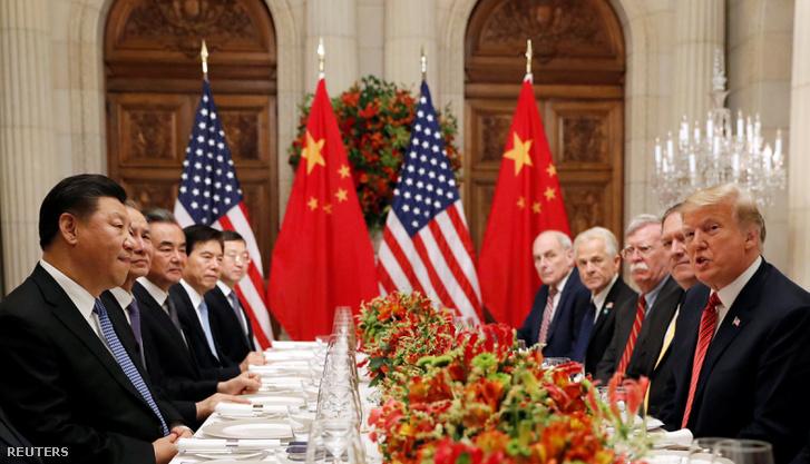 A kínai és amerikai tárgyalóküldöttség Buenos Airesben