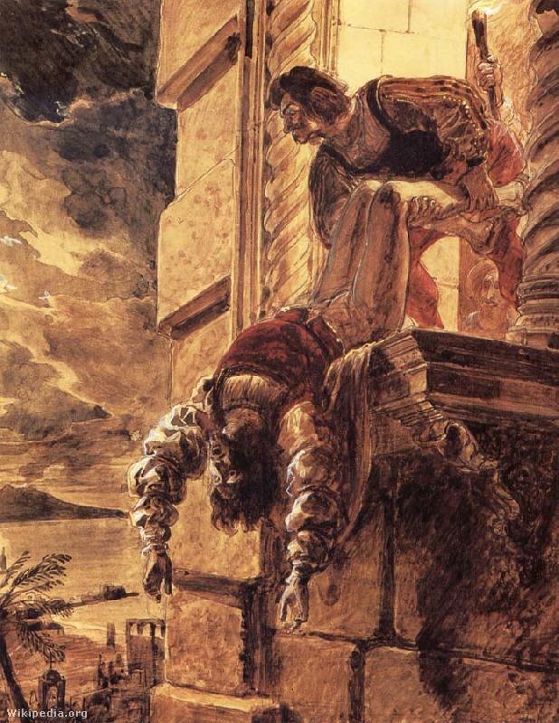 András herceg meggyilkolása, Karl Pavlovics Brjullov festménye