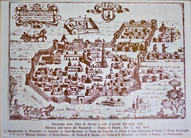 Aversa 1650 körül