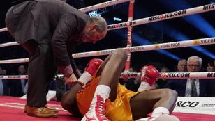 Kritikus állapotban a kiütés után a világbajnok bokszoló