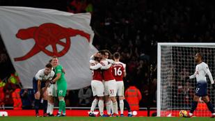 Az Arsenal padlóra küldte ellenfelét a londoni derbin