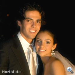 Kaká és fiatal felesége, Caroline Celico. Itt még szüzek.
