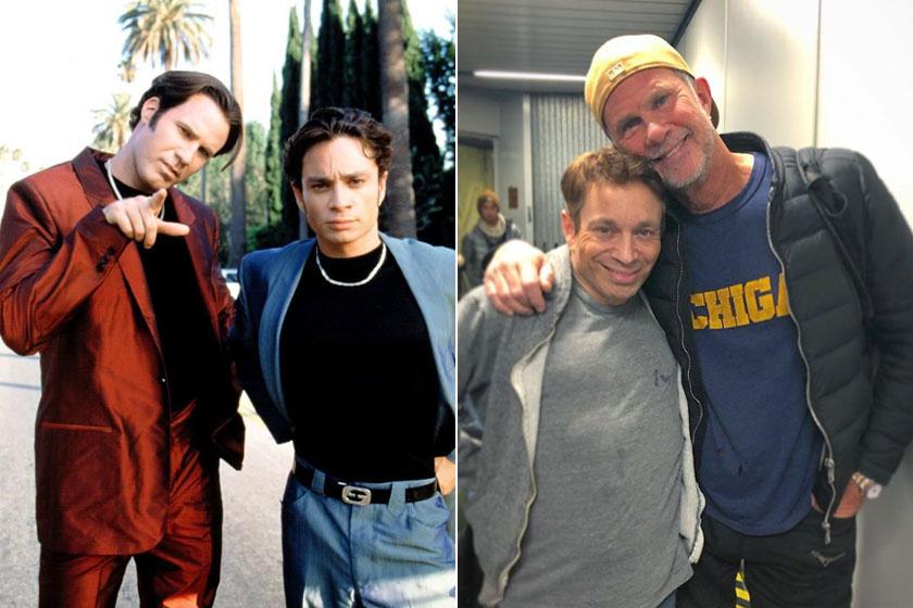 Chris Kattan és Will Ferrell régen és most.