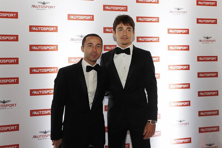 Leclerc (jobbra) és menedzsere, Nicolas Todt