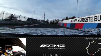 Így néz ki a rekordkör az AMG GT R Próban