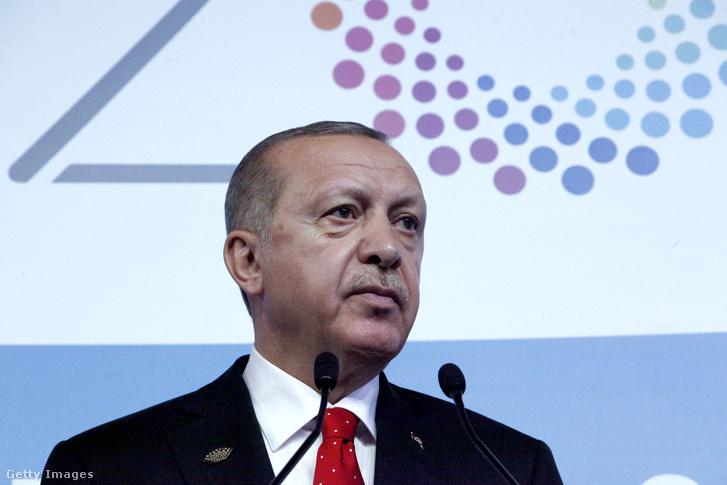 Recep Tayyip Erdogan a Buenos Aires-i G20-csúcstalálkozón 2018. december 1-én.