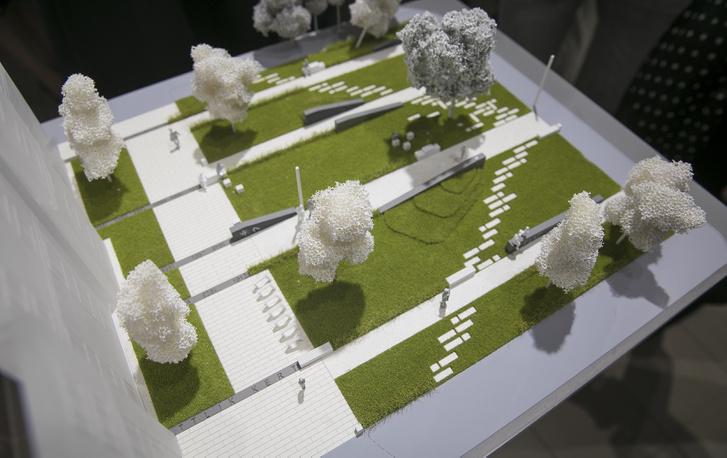 Ottlik kert: az első díjas alkotás makettje