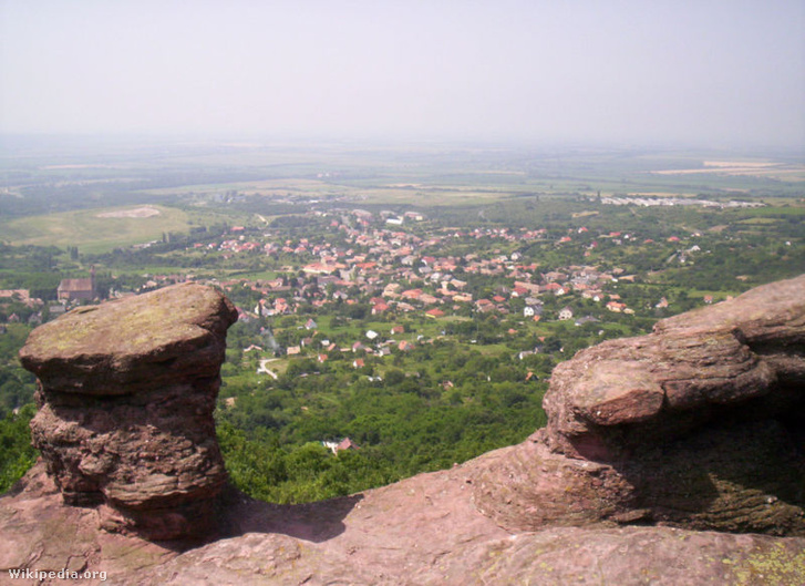 Kővágószőlős látképe a Jakab-hegyről