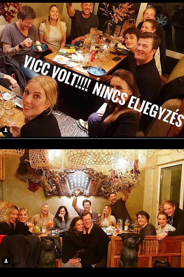 Stohl András sugárzik a boldogságtól 19 évvel fiatalabb párja, a gyönyörű Vica oldalán.