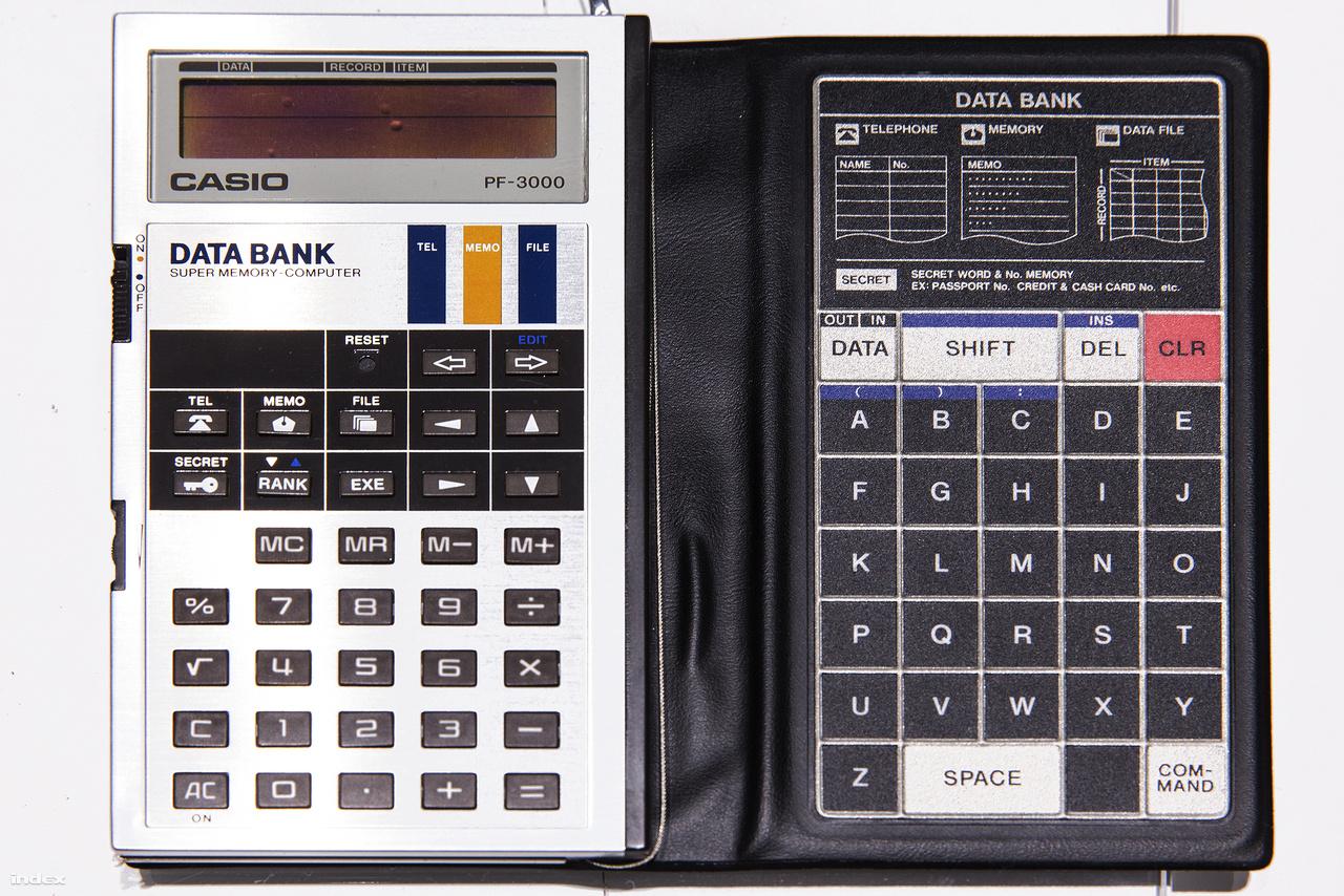 1983: megjelenik a Casio PF-3000, az első digitális határidőnapló. Telefonkönyv, számológép, jegyzetek, névjegykártyák, adattároló funkció mind egy készülékben.
