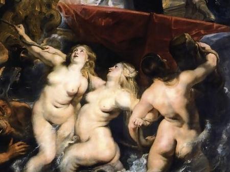 Peter Paul Rubens: Medici Mária fogadtatása a Marseille-i kikötőben - részlet
