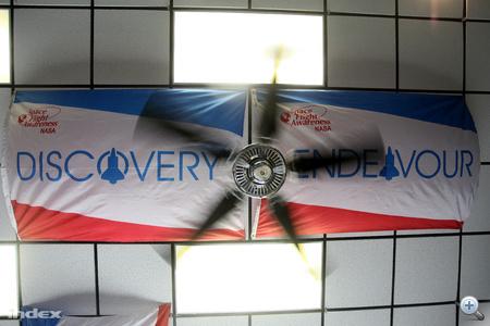 Zászlók a mennyezeten