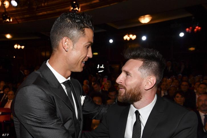 Ronaldo és Messi a 2017-es FIFA-gálán
