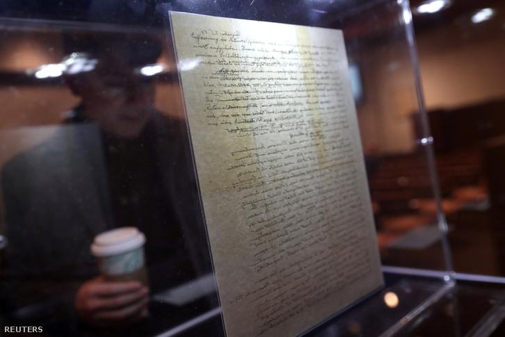 Einstein levele a Christie's aukciósházban