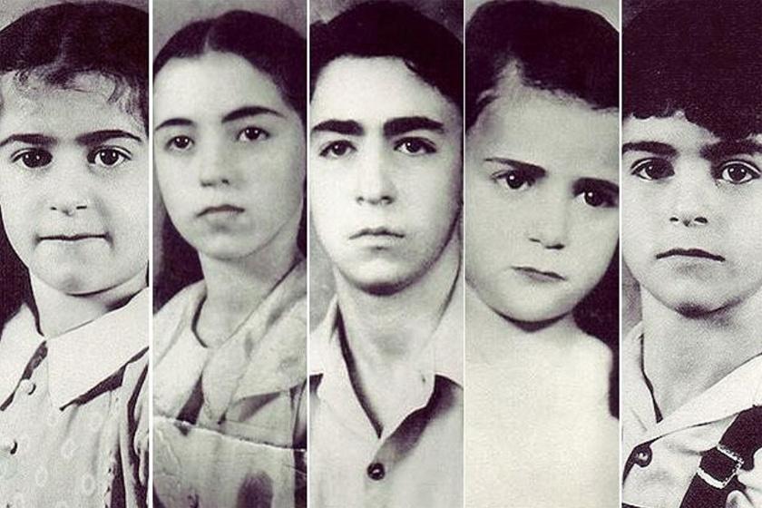 Az öt tragikus sorsú kisgyerek.