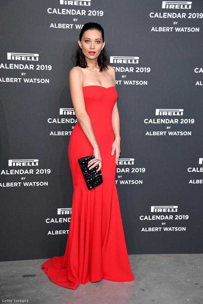 Margareth Madé olasz modell vörösben volt aznap este.