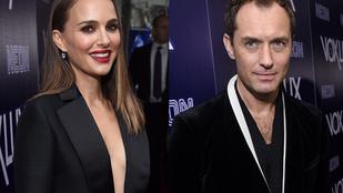 Natalie Portman és Jude Law összeöltöztek fekete dekoltáltba