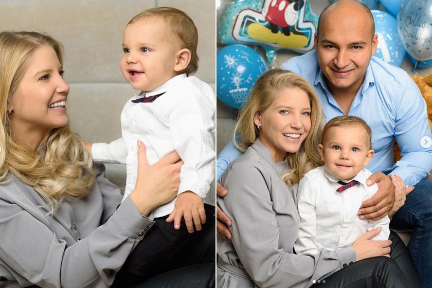 Szabó Zsófi és férje életét tündéri gyermekük, Mendel színesíti, aki 2018 decemberében lett egyéves.