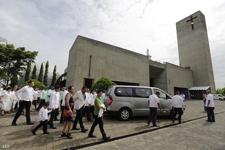 A Metropolitan Katedrális Managua-ban 2018. június 4-én