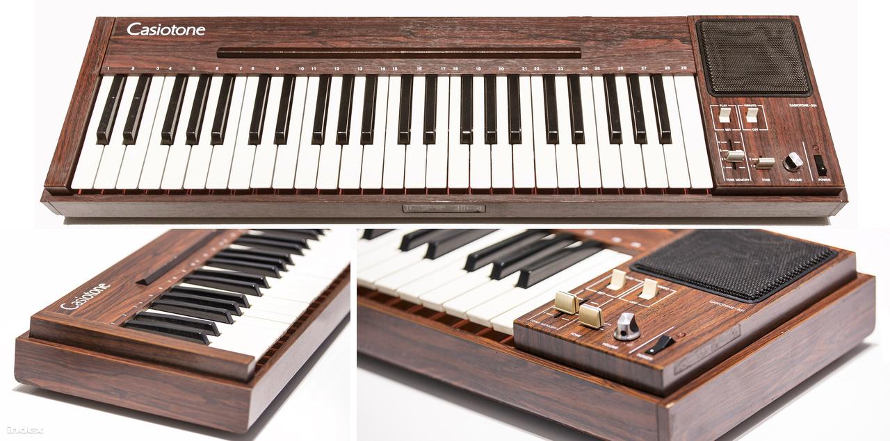 1980 januárjában jelent meg a Casiotone 201, amivel a cég belépett az elektronikus hangszerek piacára. A zongora, orgona és gitár hangzását utánozó szintetizátorral a Casio szerint játék a zenetanulás.