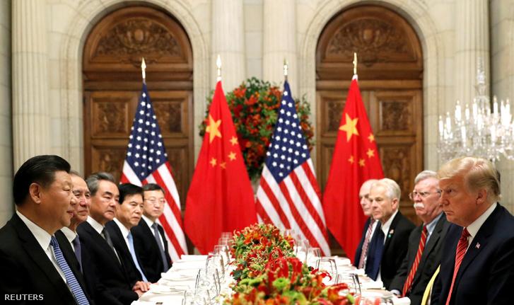 Donald Trump és Hszi Csin-ping Buenos Airesben 2018. december 1-jén