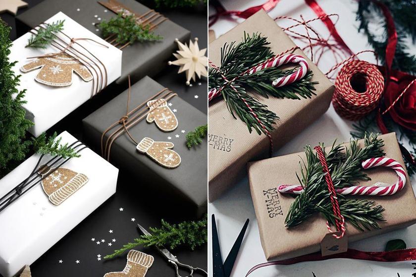 Zöld ágak és egy kis édesség, nagyon gusztusos lesz így az ajándék.