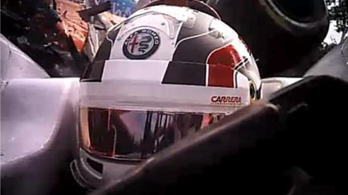 Kivizsgálták: a glória védte meg Leclerc sisakját Alonso szárnyától