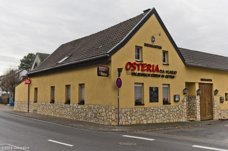Egy németországi pizzéria, ahol a 'Ndrangheta több tagját is őrizetbe vették.