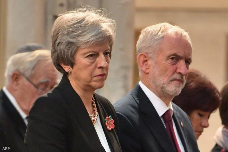 Theresa May és Jeremy Corbyn
