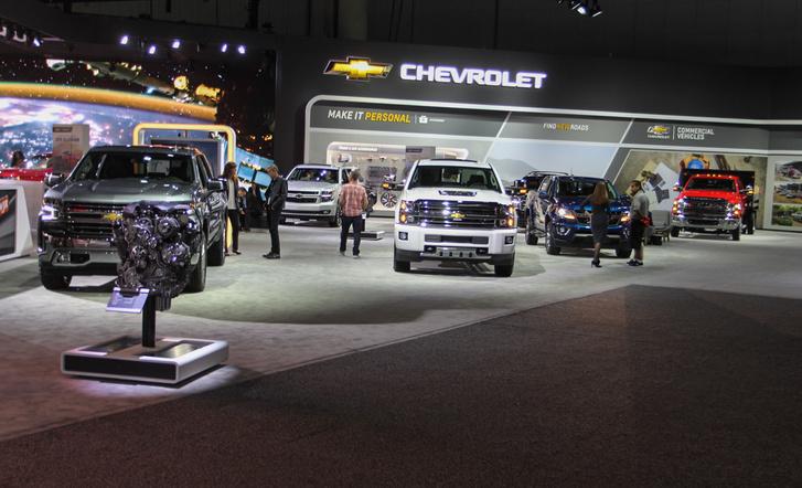 Annyi pickupot összesen nem látsz egy európai piacon, amennyit itt a Chevy kipakolt
