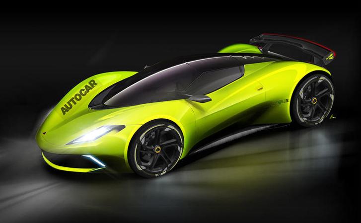 Az Autocar fiktív látványterve egy lehetséges villanyos Lotusról