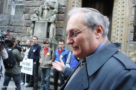 Efraim Zuroff, a jeruzsálemi Simon Wiesenthal Központ vezetője (Fotó: Somorjai László)