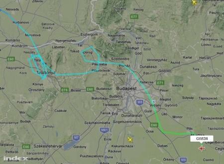 A German Wings stuttgarti járata körözni kényszerült a zivatar miatt