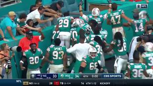 Miami csoda: az év legőrültebb, dudaszós játékával verték a Patriotsot