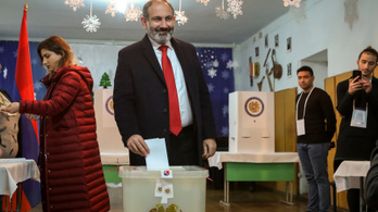 Örmény választás: 70 százalék felett kapott a korrupcióellenes párt