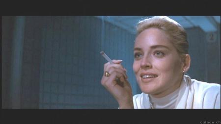 Sharon Stone az Elemi Ösztön kihallgatós jelenetében