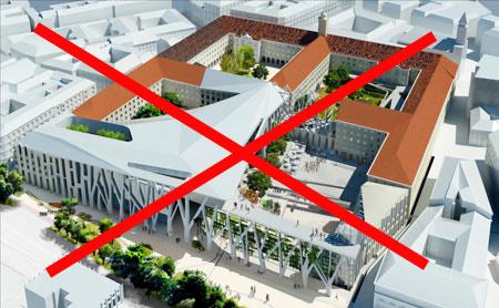 Az Egeraat-féle beépítés terve. Ebből már nem lesz semmi.